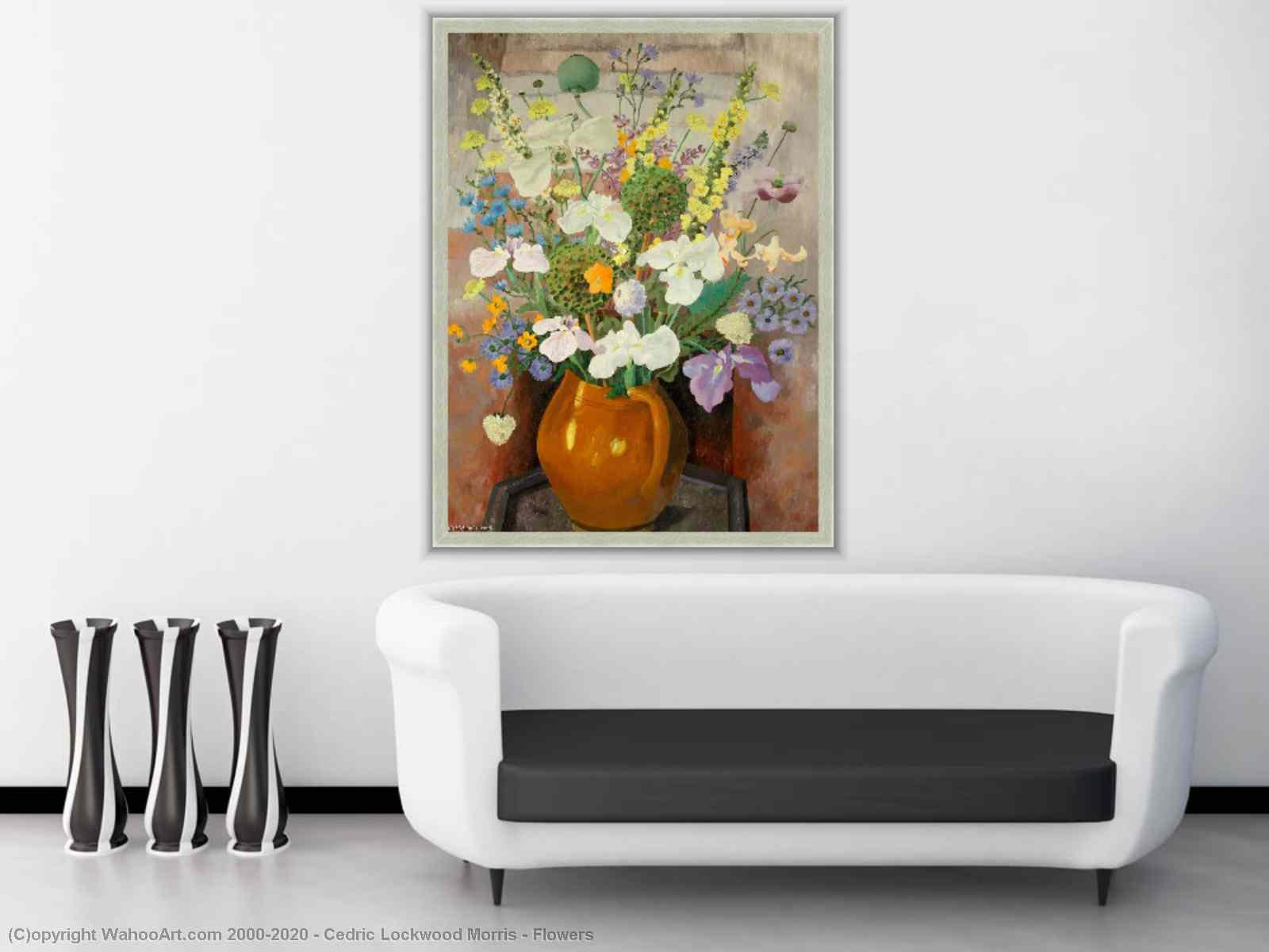 Flowers by Cedric Lockwood Morris | Oil Painting | Most-Famous